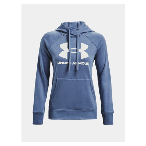 Under Armour Mikina Rival Fleece Logo Bluza z kapturem-BLU