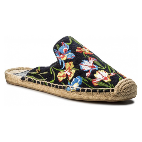 Espadryle TORY BURCH - Max Embrioidered Espadrille Slide 46913 Perfect Nany/Painted Iris 449