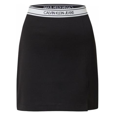 Calvin Klein Jeans Spódnica 'Milano' biały / czarny