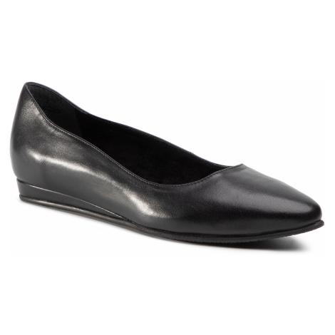 Baleriny TAMARIS - 1-22118-25 Black Leather 003
