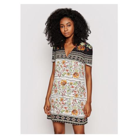 Desigual Sukienka letnia Baltimore 21SWVW06 Kolorowy Relaxed Fit