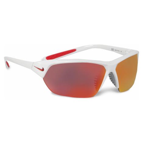 Okulary przeciwsłoneczne NIKE - Skylon Ace EV1125 106 White/Grey W/Red Mirror