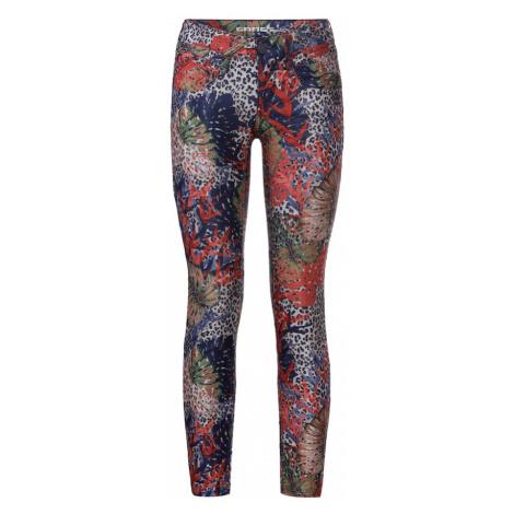 Gang Spodnie 'NENA CROPPED - leo mixed print' mieszane kolory / czerwony