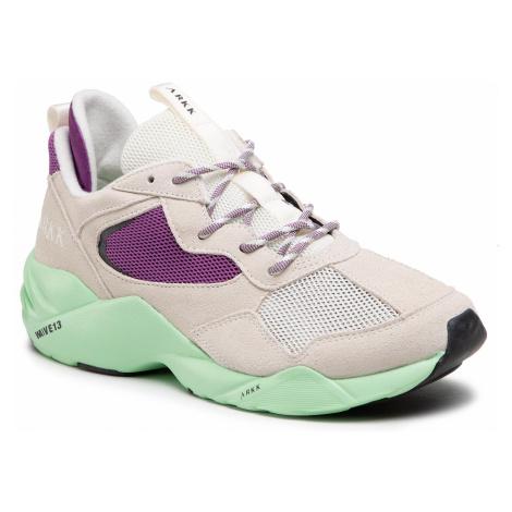 Sneakersy ARKK COPENHAGEN - Kanetyk Suede W13 CR3802-0011-M Off White Neo Mint