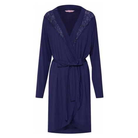 Hunkemöller Szlafrok 'Robe Modal Lace' ciemny niebieski Hunkemoller