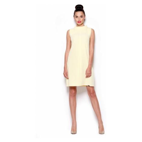 Sukienka damska M299 yellow Figl