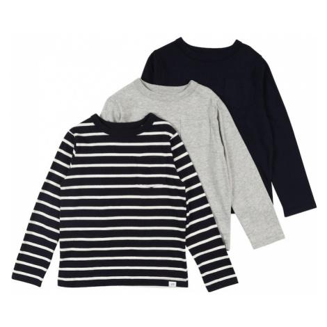GAP Koszulka biały / ciemny niebieski / szary