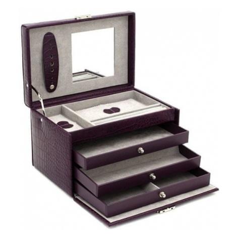 Friedrich Lederwaren pudełka z biżuterią fioletowy / szary Classico 23236-56