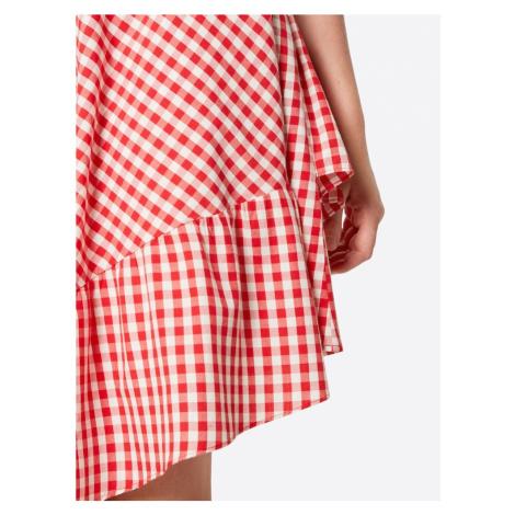 VILA Spódnica 'VISAMMA' czerwony / biały