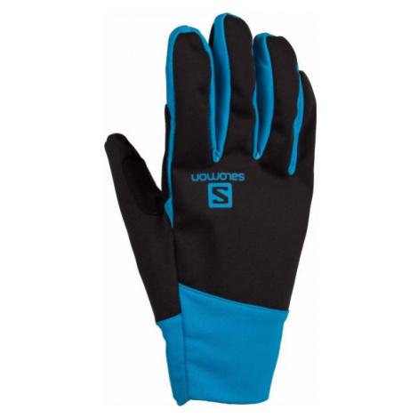 Salomon EQUIPE GLOVE U niebieski M - Rękawice zimowe