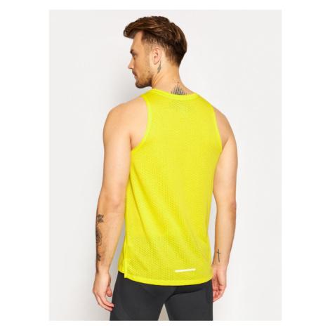 Nike Koszulka techniczna Rise 365 AQ9917 Żółty Standard Fit