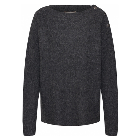 ESPRIT Sweter 'sweater struct' antracytowy