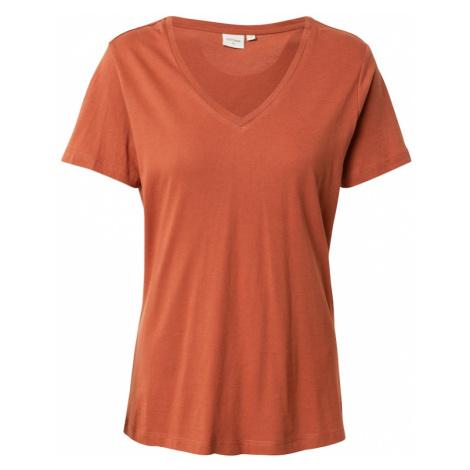 Cream Koszulka 'Naia' rdzawobrązowy