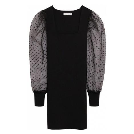 MANGO Sukienka koktajlowa 'Lacy' czarny