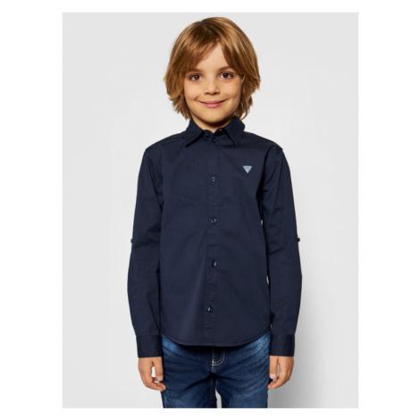 Guess Koszula L81H14 W7RY0 Granatowy Regular Fit
