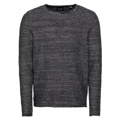Only & Sons Sweter nakrapiany czarny