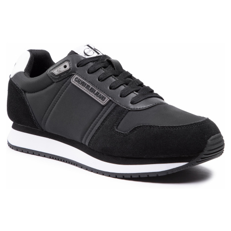 Sneakersy CALVIN KLEIN JEANS - Runner Sneaker Laceup Pu-Ny YM0YM00038 Black BDS