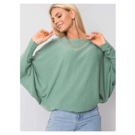 SUBLEVEL Lekki sweter oversize khaki