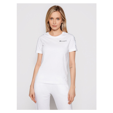 Champion T-Shirt Crewneck 113086 Biały Regular Fit