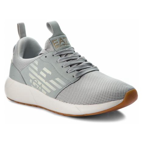 Sneakersy EA7 EMPORIO ARMANI - X8X023 XCC05 00460 Grey High Rise