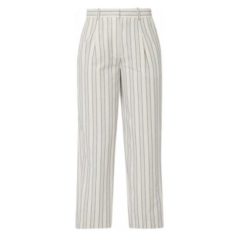 Spodnie z zakładkami z mieszanki bawełny i wiskozy Marc O'Polo