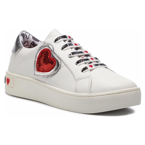 Sneakersy LOVE MOSCHINO - JA15133G17IA310A Bianco/Argen