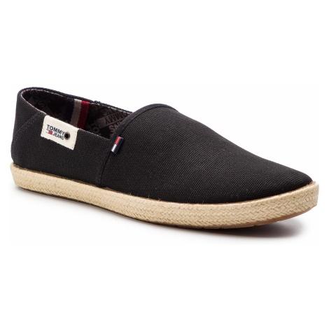 Espadryle TOMMY JEANS - Summer Shoe EM0EM00279 Black 990 Tommy Hilfiger