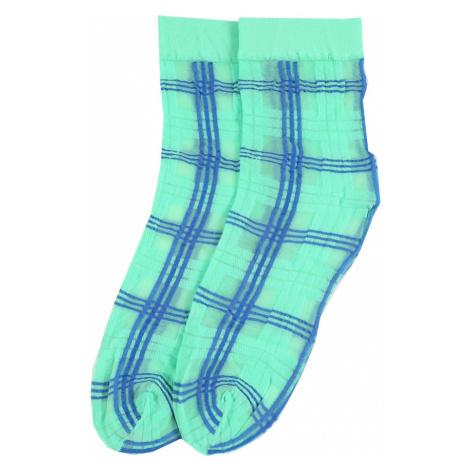 Swedish Stockings Skarpety 'Greta Tartan' niebieski / zielony