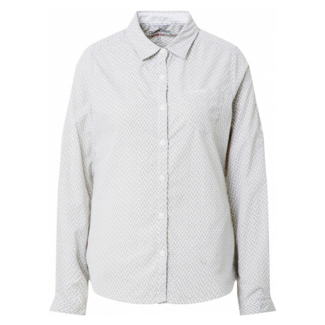 CRAGHOPPERS Bluzka funkcyjna 'NosiLife Verona' szary / biały