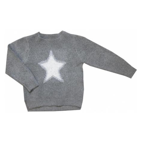 Carodel sweter dziewczęcy, z gwiazdą szary