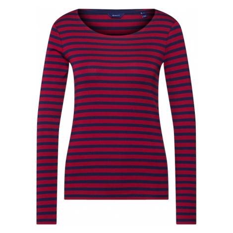 GANT Koszulka '1X1 RIB LS T-SHIRT' kremowy / czerwony