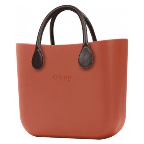 O bag torebka MINI Terracotta z krótkimi brązowymi uchwytami ze skajki