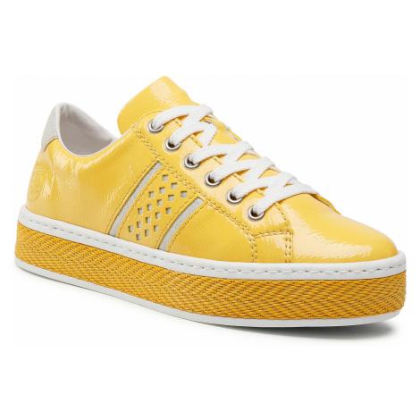 Sneakersy RIEKER - L8914-68 Gelb