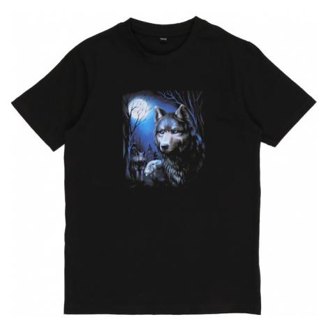 Mister Tee Koszulka 'Wolf' czarny / ciemnoszary / niebieska noc