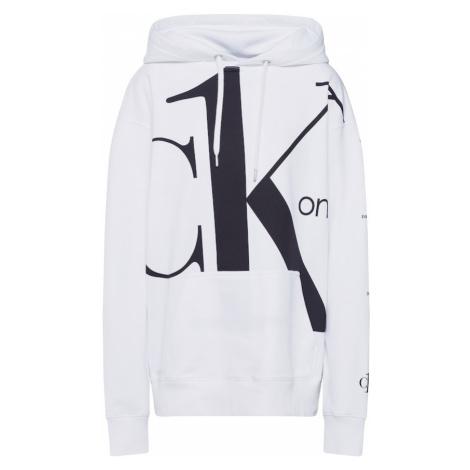 Calvin Klein Jeans Bluzka sportowa szary / biały / czarny