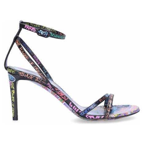 Balenciaga - Buty Sandały z zapięciem skóra cielęca Nadruk  czarny-kombi różnokolorowy