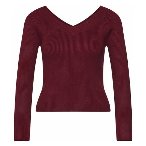 Fashion Union Sweter 'ELM' burgund