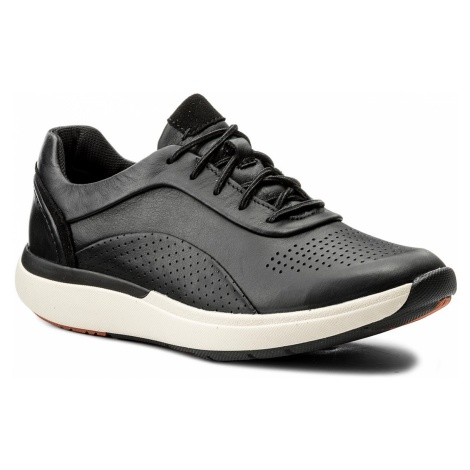 Sneakersy CLARKS - Un Cruise Lace 261326844 Black Leather 035