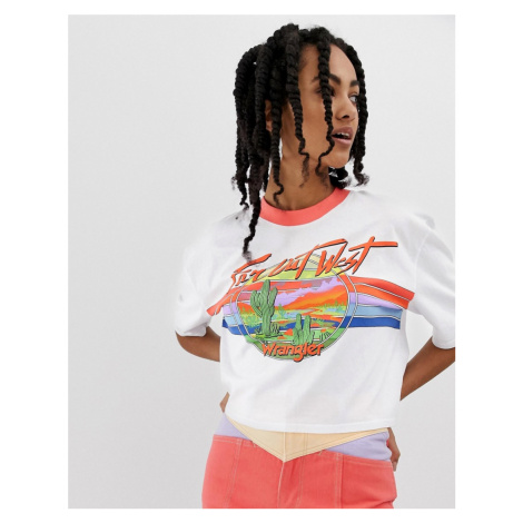Wrangler cropped 80s boy t-shirt with far out graphic