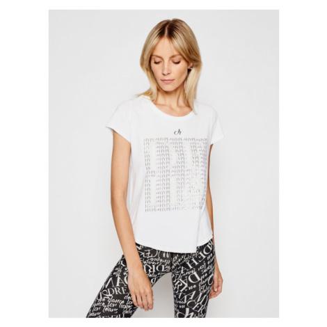 Deha T-Shirt Graphic D43143 Biały Regular Fit