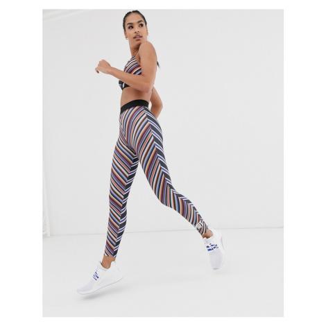 HIIT contrast stripe printed leggings