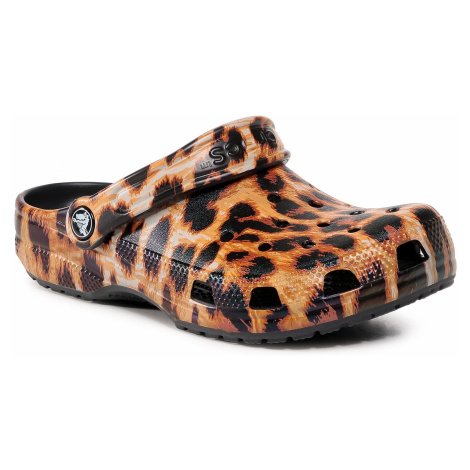 Klapki CROCS - Classic Animal Print 206676 Clog Leopard