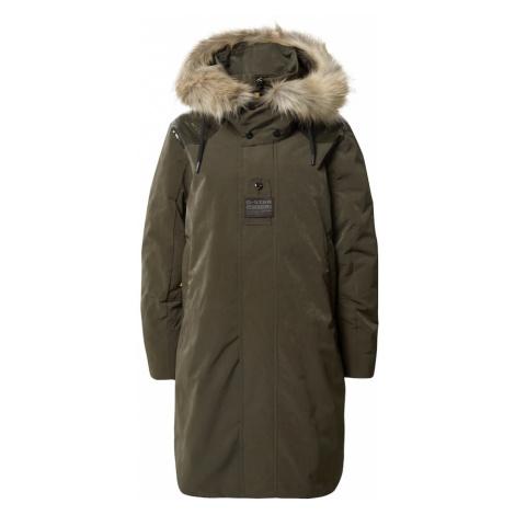 G-Star RAW Płaszcz zimowy oliwkowy
