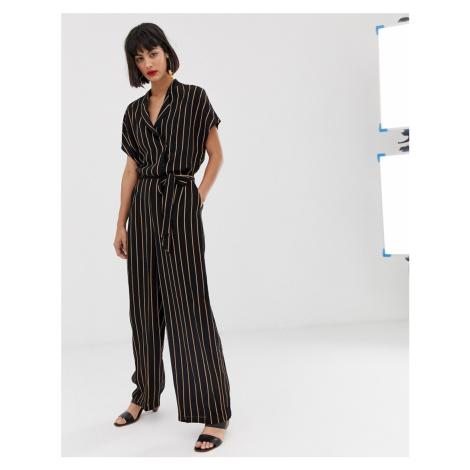 Selected stripe jumpsuit