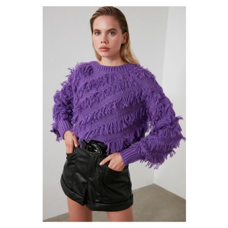 Trendyol Purple FringeKjack Sweater