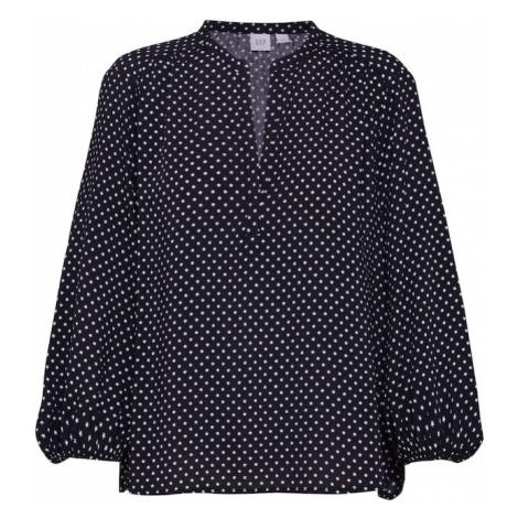 GAP Bluzka 'V-LS EASY POPOVER' czarny / biały