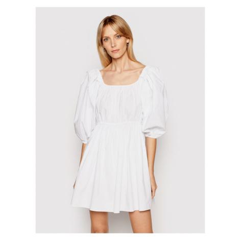 Patrizia Pepe Sukienka letnia 2A2202/A9B9-W103 Biały Regular Fit