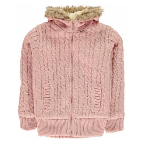 SoulCal Zip Knit Jacket Junior Girls Soulcal & Co