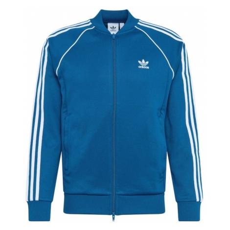 ADIDAS ORIGINALS Bluza rozpinana 'SST TT' ciemny niebieski / biały