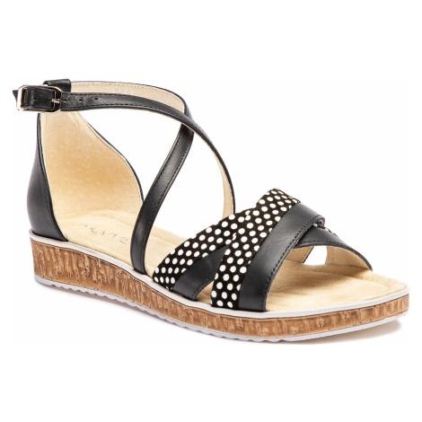 Sandały ANN MEX - 0161 01S+01KR Czarny
